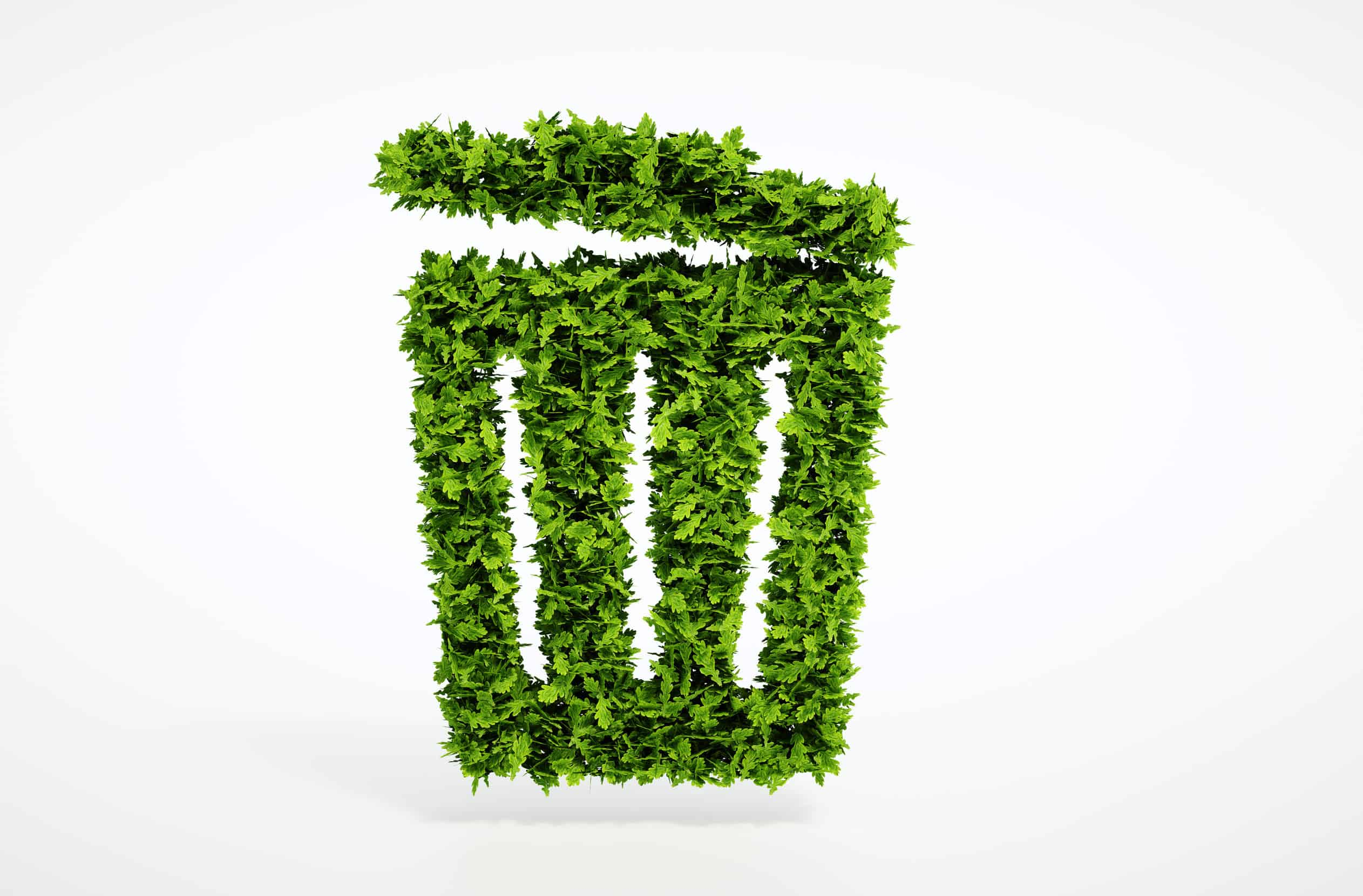 32522009 - isolated 3d render ecology trash can concept with white background